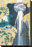 Cascade of Amida, Province of Kiso, c.1830 Stretched Canvas Print by Katsushika Hokusai