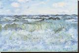 Seascape Stretched Canvas Print by Claude Monet
