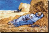 Middagsvila, efter Millet, ca 1890 Sträckt Canvastryck av Vincent van Gogh