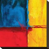 Abstracte compositie in blauw Kunstdruk op gespannen doek van Carmine Thorner