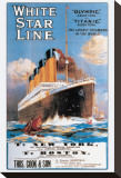 White Star Line Stretched Canvas Print