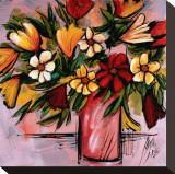 Vivid Bouquet Stretched Canvas Print by Domenico Provenzano
