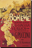 Puccini, La Boheme Stretched Canvas Print by Adolfo Hohenstein
