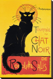 Chat Noir Stretched Canvas Print by Théophile Alexandre Steinlen