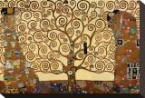 Livets träd Sträckt Canvastryck av Gustav Klimt
