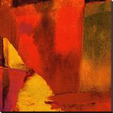 Triptyque rouge Wassily I Reproduction sur toile tendue par Petro Mikelo