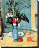 Blue Vase Leinwand von Paul Cézanne