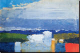 Noon Landscape Stretched Canvas Print by Nicolas De Staël