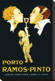 Porto Ramos-Pinto Stretched Canvas Print by René Vincent