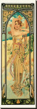 Day Stretched Canvas Print by Alphonse Mucha