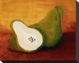Country Pears Stretched Canvas Print by Petra Kirsch