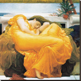 Flaming June Stretched Canvas Print by Frederick Leighton
