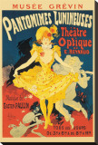 Pantomimes Lumineuses Stretched Canvas Print by Jules Ch&#233;ret
