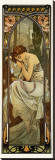 Night Stretched Canvas Print by Alphonse Mucha