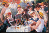 Luncheon Stretched Canvas Print by Pierre-Auguste Renoir
