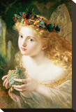 Fairy Stretched Canvas Print by Sophie Gengembre Anderson