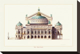 Paris, Opera Garnier Stretched Canvas Print by Libero Patrignani