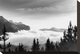 Over the Clouds, Banff National Park, Alberta Stretched Canvas Print