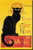 Chat Noir Stretched Canvas Print by Th&#233;ophile Alexandre Steinlen