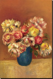 Chrysanthemums Stretched Canvas Print by Pierre-Auguste Renoir