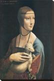 Dama con Ermellino Stretched Canvas Print by  Leonardo da Vinci