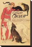 Clinique Chéron Reproduction transférée sur toile par Théophile Alexandre Steinlen