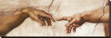 Creation of Adam Stretched Canvas Print by  Michelangelo Buonarroti