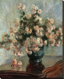 Chrysanthemums, c.1882 Stretched Canvas Print by Claude Monet