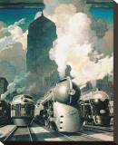 New York Central System Stretched Canvas Print