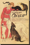 Clinique Cheron Stretched Canvas Print by Théophile Alexandre Steinlen