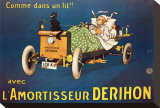 L'Amortisseur Derihon Stretched Canvas Print by Mich (Michel Liebeaux)