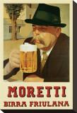 Moretti Birra Friulana Stretched Canvas Print