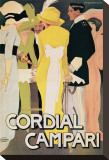 Cordial Campari Stretched Canvas Print by Marcello Dudovich