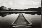 Emigrant Lake Dock I in Black and White Reproduction transférée sur toile par Shane Settle