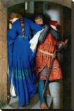 Meeting on Turret Stairs Reproduction transférée sur toile par Frederick William Burton