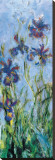 Irises (detail) Stretched Canvas Print by Claude Monet