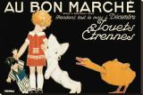 Au Bon Marche, Jouets et Etrennes Reproduction transférée sur toile par René Vincent
