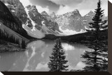 Majestic Moraine Lake, Alberta Stretched Canvas Print