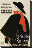 Aristide Bruant Stretched Canvas Print by Henri de Toulouse-Lautrec