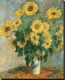 Sunflowers, c.1881 Reproducción en lienzo de la lámina por Claude Monet