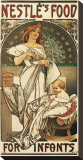Nestle&#39;s Food for Infants Stretched Canvas Print by Alphonse Mucha