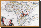 Map of Africa Stretched Canvas Print by Vincenzo Coronelli