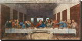 The Last Supper, c.1498 Stretched Canvas Print by  Leonardo da Vinci