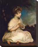 Age of Innocence, c.1723-1784 Stretched Canvas Print by Graham Reynold