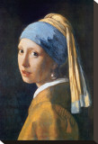 Girl with Pearl Earring Stretched Canvas Print by Jan Vermeer