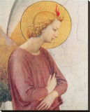 L'Angelo Annunziante, c.1387-1455 (detail) Stretched Canvas Print by  Fra Angelico