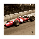 Ferrari F1 Vintage Bandini 67 Sepia Posters
