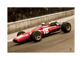 Ferrari F1 Vintage Bandini 67 Sepia Print
