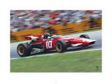 Ferrari F1 Vintage Ickx Race Kunstdrucke