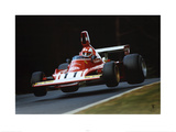 Ferrari F1 Vintage Regazzoni Jump 1974 Prints